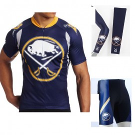 59a250589 NHL Buffalo Sabres Cycling Jerseys Bib Shorts Arm Warmers