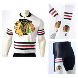 01926a3f9 NHL Chicago Blackhawks Cycling Jerseys Bib Shorts Arm Warmers
