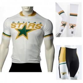 19b84b573 NHL Dallas Stars Cycling Jerseys Bib Shorts Arm Warmers