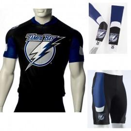 4b73d8367 NHL Tampa Bay Lightning Cycling Jerseys Bib Shorts Arm Warmers