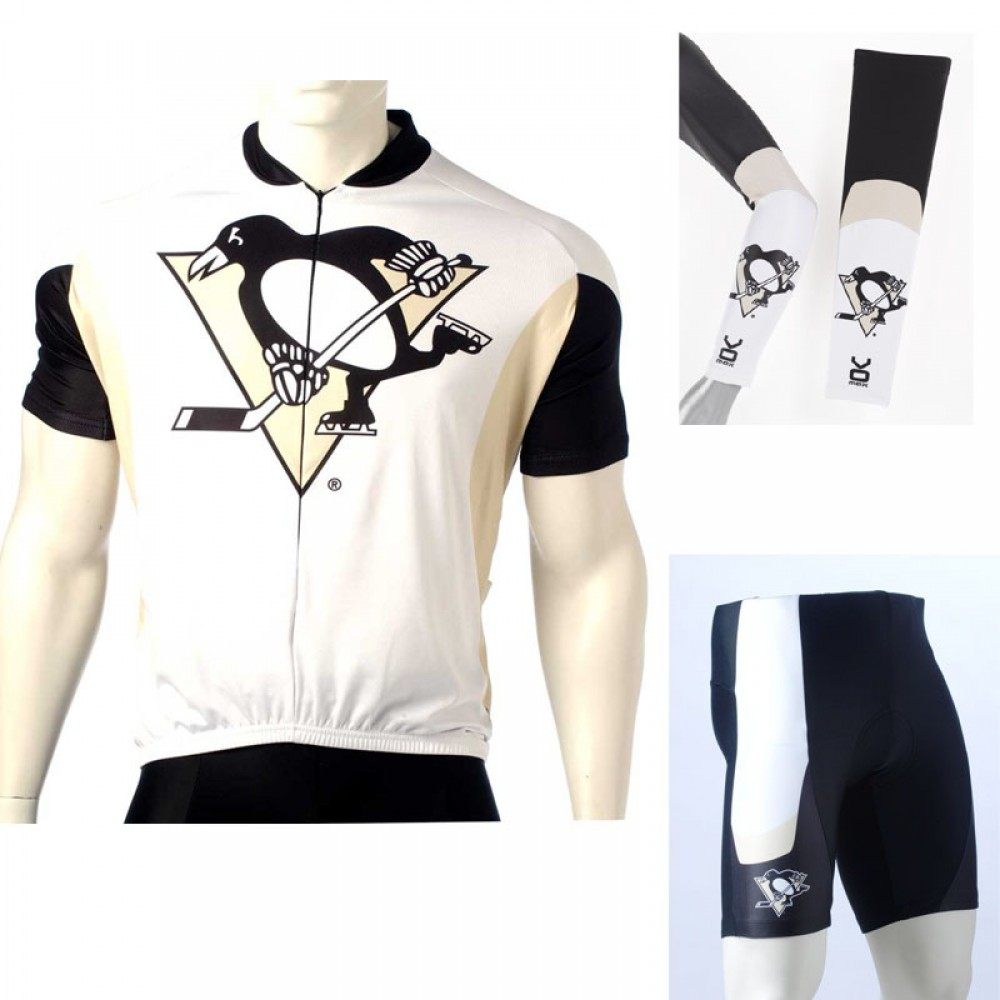 online store f72cc d1405 NHL Pittsburgh Penguins Cycling Jerseys Bib Shorts Arm Warmers