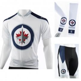 bd03674bc NHL Winnipeg Jets Cycling Jerseys Bib Shorts Arm Warmers